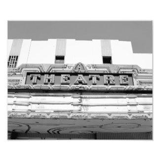 Carpa vieja clásica del teatro de película impresion fotografica