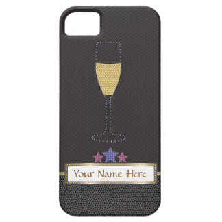 """Carpa y champán """"Barely There negro """" iPhone 5 Fundas"""