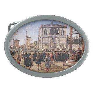 Carpaccio-Repatriación de Vittore de embajadores Hebilla De Cinturón