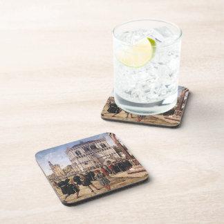 Carpaccio-Repatriación de Vittore de embajadores Posavasos De Bebidas