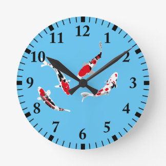 Carpas Varicolored Reloj Redondo Mediano