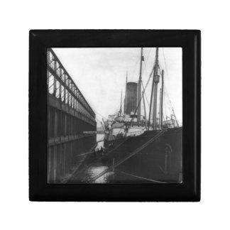 Carpathia in dock in New York 1912 Jewelry Box