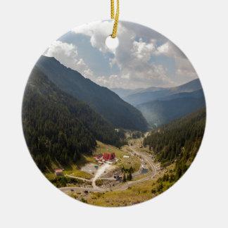 Carpathian mountains ceramic ornament