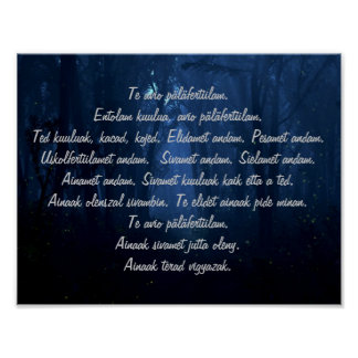 Carpathian Ritual Words Poster