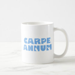 Classic White Mug with Carpe Annum design