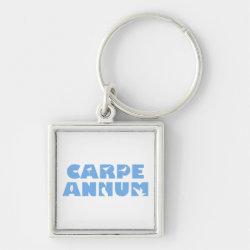 Premium Square Keychain with Carpe Annum design
