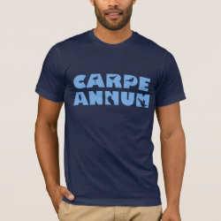 Men's Basic American Apparel T-Shirt with Carpe Annum design