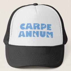 Trucker Hat with Carpe Annum design