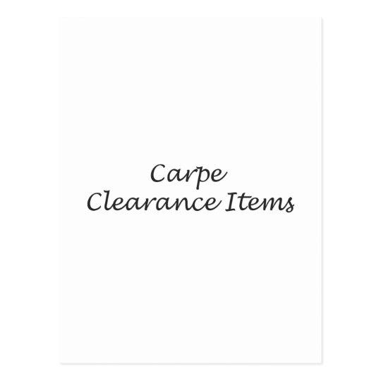 Carpe Clearance Items Postcard