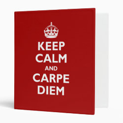 Avery Signature 1' Binder with Keep Calm and Carpe Diem design