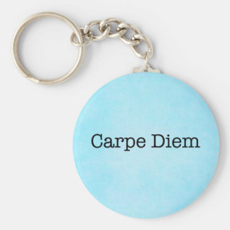 Carpe Diem agarra la cita del día - citas Llavero Redondo Tipo Pin