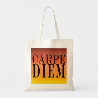 Carpe Diem agarra la felicidad latina de la cita Bolsa Tela Barata
