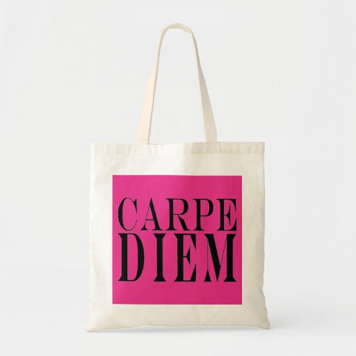 Carpe Diem agarra la felicidad latina de la cita d Bolsas De Mano