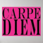 Carpe Diem agarra la felicidad latina de la cita d Poster