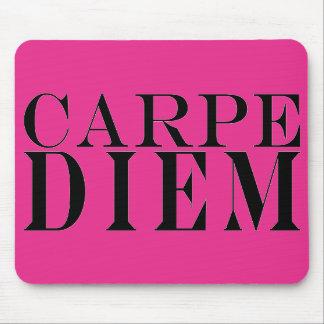 Carpe Diem agarra la felicidad latina de la cita d Alfombrillas De Ratón