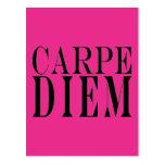 Carpe Diem agarra la felicidad latina de la cita d Tarjeta Postal