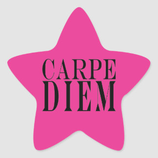 Carpe Diem agarra la felicidad latina de la cita Pegatina En Forma De Estrella