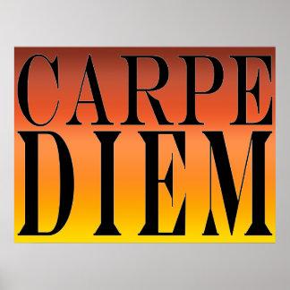 Carpe Diem agarra la felicidad latina de la cita Póster
