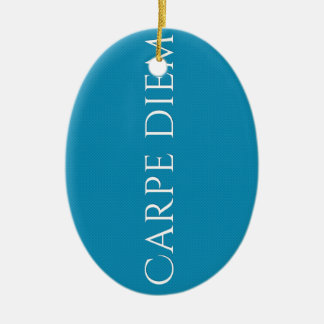 Carpe Diem Attitude Tag Ceramic Ornament