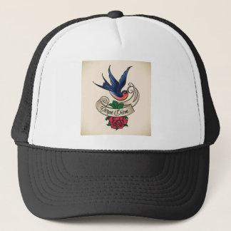 Carpe Diem Bluebird Tattoo Trucker Hat