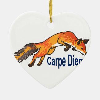 Carpe Diem Ceramic Ornament