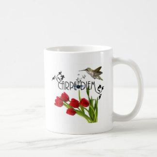 carpe diem classic white coffee mug