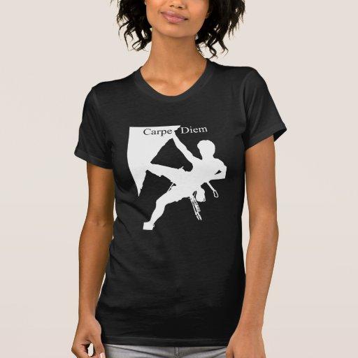 Carpe Diem Climbing (Dark Shirts) T Shirt