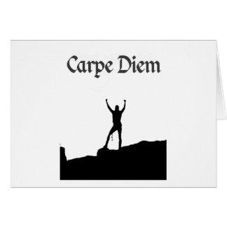 Carpe Diem Climbing Summit Greeting Card
