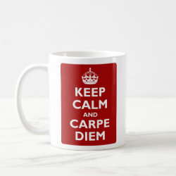 Classic White Mug with Keep Calm and Carpe Diem design