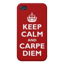 Case Savvy iPhone 4 Matte Finish Case with Keep Calm and Carpe Diem design