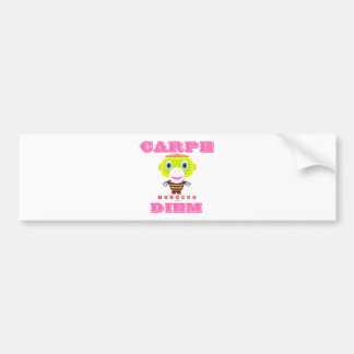 Carpe Diem-Cute Monkey-Morocko Bumper Sticker