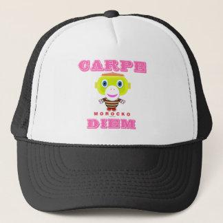 Carpe Diem-Cute Monkey-Morocko Trucker Hat