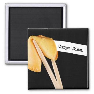 Carpe Diem Fortune Cookie 2 Inch Square Magnet