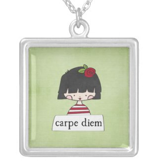 carpe diem - girl with a message - necklace necklace