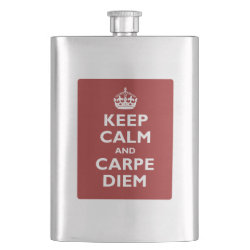 Stainless Steel Flask with Keep Calm and Carpe Diem design