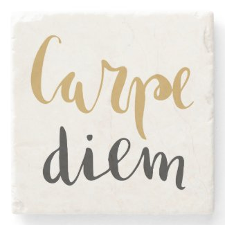 Carpe Diem - Inspirational Stone Coaster