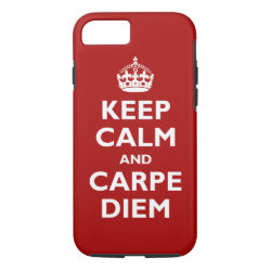 Case-Mate Barely There iPhone 7 Case with Keep Calm and Carpe Diem design