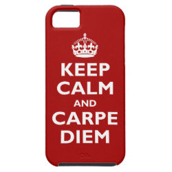 Case-Mate Vibe iPhone 5 Case with Keep Calm and Carpe Diem design