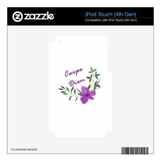 Carpe Diem iPod Touch 4G Decal