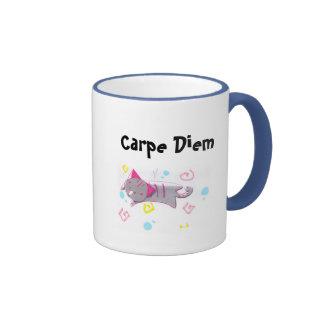 Carpe Diem Kitty Mugs