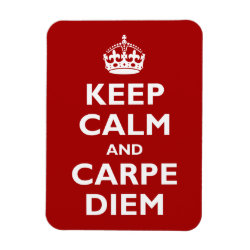 3'x4' Photo Magnet with Keep Calm and Carpe Diem design