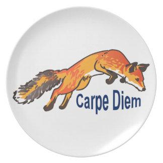 Carpe Diem Melamine Plate