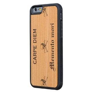 CARPE DIEM Memento mori Carved Cherry iPhone 6 Bumper Case