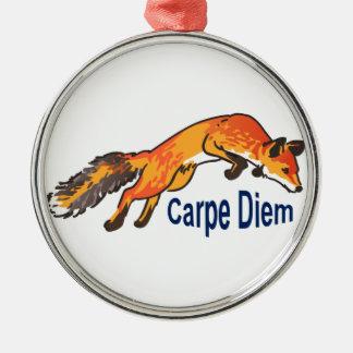 Carpe Diem Metal Ornament