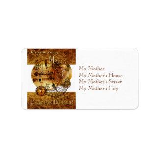 Carpe Diem Mother's Day Address Label