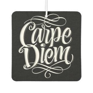Carpe Diem Motivational Typography Car Air Freshener