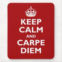 Mousepad with Keep Calm and Carpe Diem design