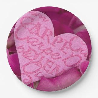 Carpe Diem my Love Paper Plate