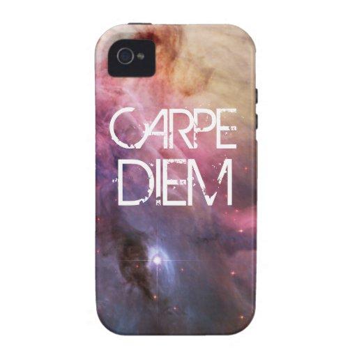 Carpe diem nebula stars galaxy hipster geek space Case-Mate iPhone 4 cases