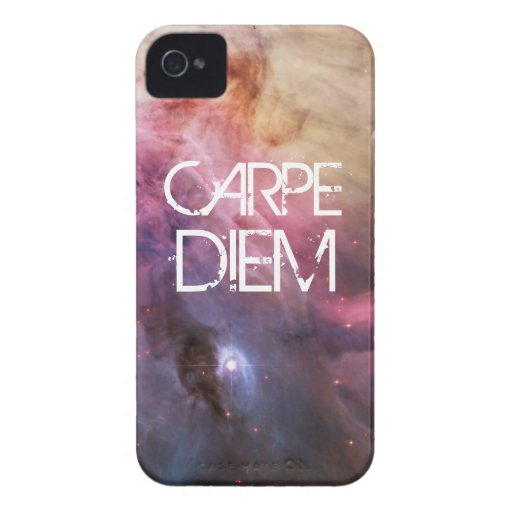 Carpe diem nebula stars galaxy hipster geek space iPhone 4 Case-Mate cases